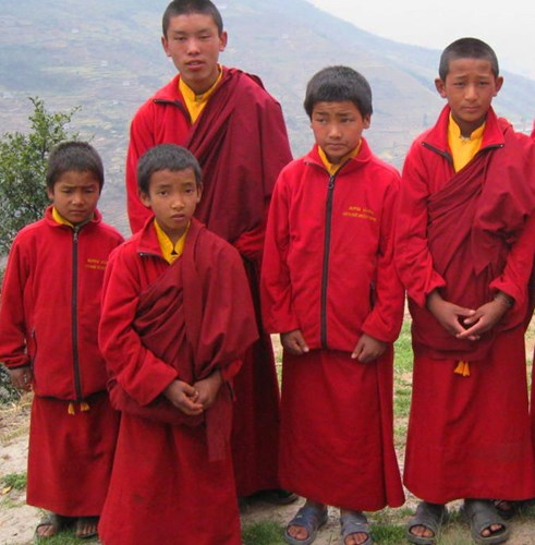 Nepal_Solu Khumbu Bupsa Buddhist Mini Monks.jpg