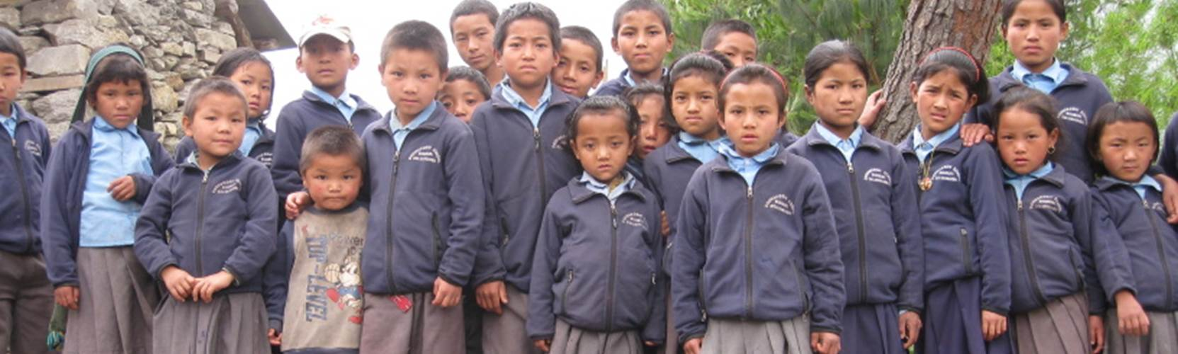 School expedition in Nepal - school children in the Himalayas