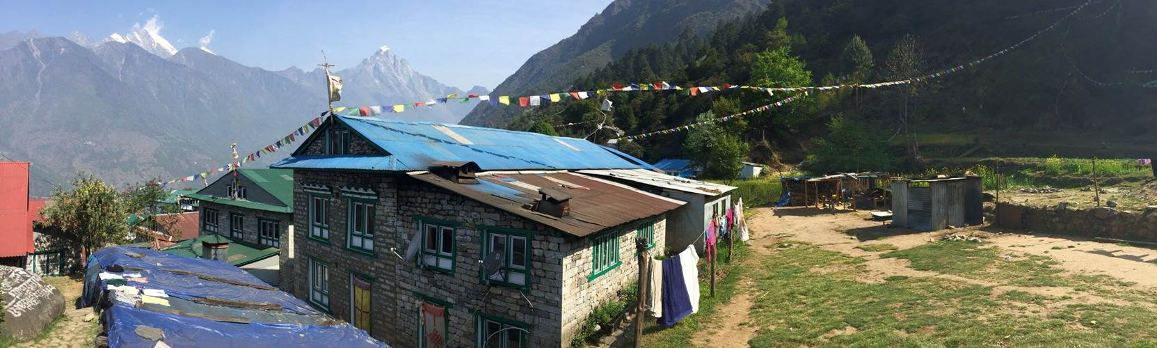Sherpa lodge on the everest base camp trek