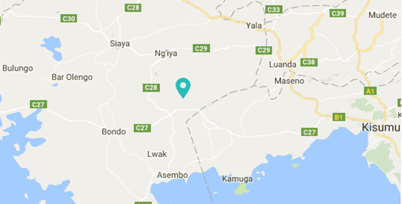 Kayeiye Primary School - location in Siaya district.png