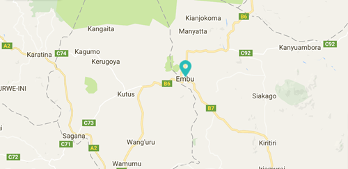 Moving Mountains Embu County Primary School Map